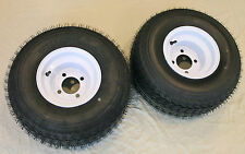 "Lot of 2 - 18x8.50-8 LRB 4 PR Bias Golf Cart Tire on 8"" 4 Lug White Steel Wheel"