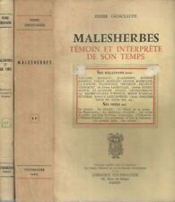 MALESHERBES ET SON TEMPS  par Pierre GROSCLAUDE  éd Fischacher 1964  2 volumes