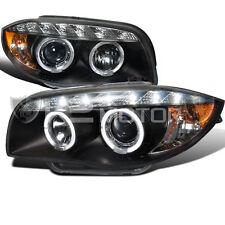 07-13 E82 E88 Us E87 1-Series Coupe/ Convertible Halo Black Projector Headlights