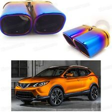 Double Outlets Exhaust Muffler Tip Tailpipe for Nissan Rogue Sport 2017-Up #4067