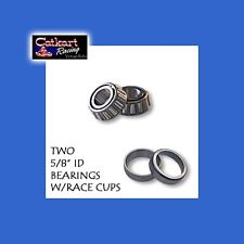 FREE SHIP TWO VINTAGE GO KART MINIBIKE 5/8 TAPERED ROLLER BEARINGS W/ RACE CUPS