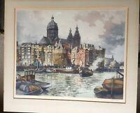 Hendrikus Elias Roodenburg (1895-1987) - Early 20th Century Etching, Amsterdam