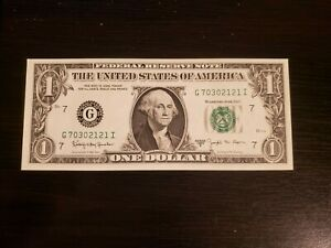 Series 1963 B $1 Federal Reserve Note J Fancy Barr Note