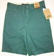 "Vans New Authentic 18"" Shorts Boy's Size Youth 26/12 Mallard Green"