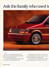 1993 Plymouth Voyager Van Original 2-page Advertisement Print Art Car Ad J880