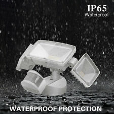39W PIR 3-Head LED Adjustable Motion Sensor Flood Outdoor Garden Security Lamp