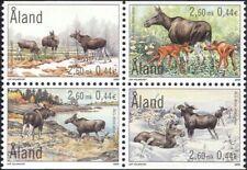Aland Islands 2000 Elk/Animals/Nature/Wildlife/Deer/Conservation 4v pane n39663
