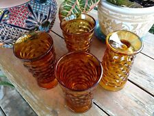 Set Four Whitehall Goblets, Indiana Vintage Glassware,  Whitehall Dinner Amber