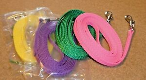 Lightweight Lead for Puppy/Small Dog,10mm wide Webbing, 2 metres Long, UK Made