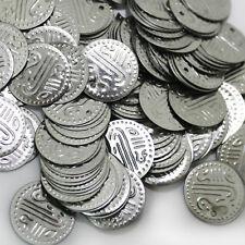 Münzen Silber Bastelmünzen, Bauchtanz Deko Basteln Perlen Metall 20mm 100g