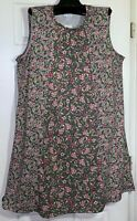 NEW J JILL WOMEN DRESS SIZE LARGE PIMA COTTON SLEEVELESS FLORAL PRINTS DRESS
