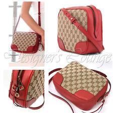 NEW GUCCI Bree Guccissima GG Leather Canvas Crossbody Shoulder Bag 449413 Authen