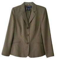 NWT Women's Evan Picone Sage Green Blazer Jacket Size 12P Fully Lined—gorgeous!