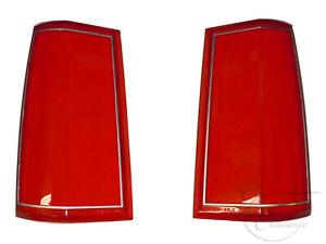 1985-1989 Lincoln Town Car Tail Light Lens SET (E5VY13451A ,E5VY13450A) NOS