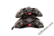 Black Audi S4 B9 front calipers