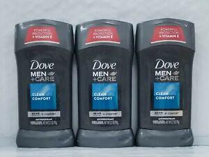Dove Men+Care Antiperspirant Deodorant Stick Clean Comfort 2.7 oz (Pack of 3)