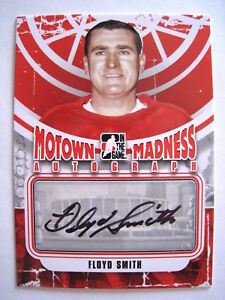 2012-13 ITG MOTOWN MADNESS FLOYD SMITH #A-FS RED WINGS AUTO (ref 1635)