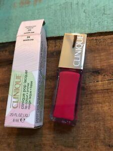 Clinique Pop Lacquer Lip Colour + Primer  04 Sweetie Pop