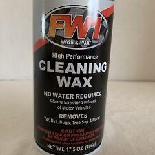 New 17.5 oz. FW1 Fast Wash & Wax Carnauba Waterless Detail Cleaning Polish +