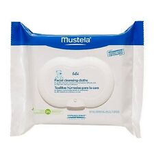 Mustela BeBe Facial Cleansing Cloths Alcohol Free Hypoallergenic 25 Wipes 2017