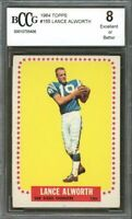 1964 topps #155 LANCE ALWORTH san diego chargers BGS BCCG 8