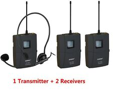 Wireless Headset Microphone Audio Tour Guide System EX-218 12 Channels ( 1T2R )