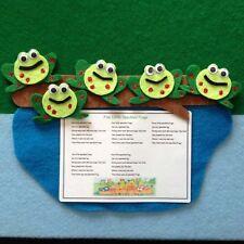 Five Speckled Frogs Felt Story Teacher Resource