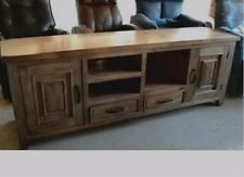 BAROSSA TV ENTERTAINMENT UNIT LOW LINE LOWLINE TIMBER 2 DRAWER