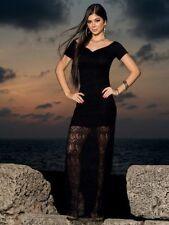 AM:PM by Espiral Maxi Look Dress Black Size M (UK 10/12) Box43 01 D