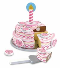 Melissa & Doug Triple-Layer Party Cake Wooden Play Food Toy Playset