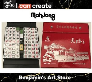 Au New Full Size Large Vintage Collection MahJong  Rare Game ENGLISH CHARACTERS