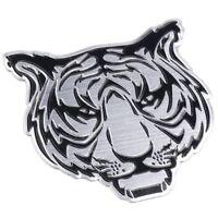 Tiger 3D Aufkleber Sticker Auto Motorrad Tuning Tigerkopf Emblem Chrom Löwe
