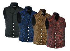 Men's Brocade Double-Breasted Vest Waistcoat Gothic Aristocrat Steampunk