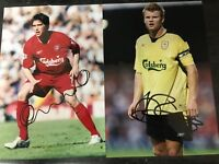 Liverpool signed photo riise kewel lovely stunning COA