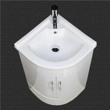 Bathroom Vanity Unit Cabinet Basin Sink Corner Cloakroom Floor Mounted 400 mm
