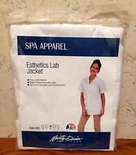 Betty Dain Esthetics Lab Jacket Style 893 White MED 3 Pocket Button Down Front
