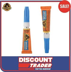 Gorilla® Super Glue Impact-Tough® Plastic*, Metal, Stone, Paper, Rubber 2x 3g