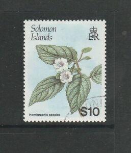 British Solomons 1987/8 Flower Defs $10 VFU SG 597