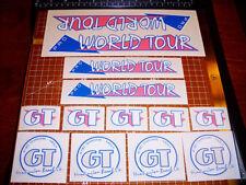 1986 GT BMX Pro World Tour, restoration decals on clear PINK THIN, VDC
