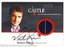 Nathan Fillion Auto - Wardrobe Card - Castle TCG Season 1 & 2  # 38/175 - SPP/NM