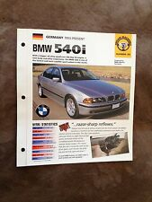 Germany 1993-Present BMW 540i Hot Cars Group 2 # 31 Spec Sheet Brochure