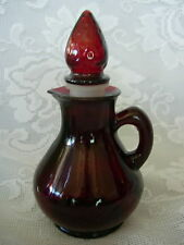 Vintage Ruby Red Glass Perfume Bottle / Cruet with Stopper - MORE AVAILABLE