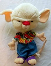 PINKY & THE BRAIN The Brain Plush Doll White Mouse WB Warner Brothers