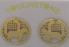 English Mastiff Jewelry Gold Post Earrings