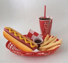 FAKE FOOD CAR HOP DINER  HOT DOG FRIES & 70'S COKE SHIPS FREE
