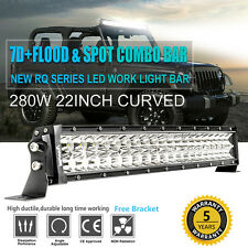"CREE 22 INCH 280W LED CURVED LIGHT BAR TRUCK SUV ATV CAR 23 20"" 24"" VS 12'' 7''"