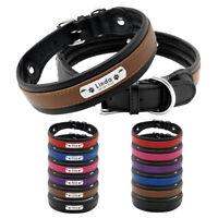 Personalisiertes Leder Hundehalsband Mit Namen Hunde Halsband Schwarz M L XL