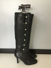 Karen Millen Womens Knee High Heel Shoes Boots Leather Size Uk 4.5 Eu 37.5