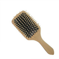 Wooden Comb Vent Paddle Brush Keratin Health Hair Care Massage Anti  Static