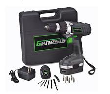 Genesis 18v Power Variable Speed Reversible Cordless Drill/Driver 3/8 Tool Kit